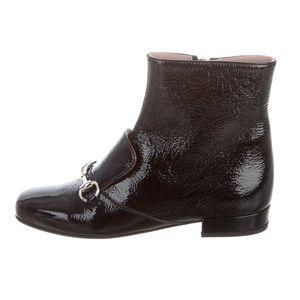 GUCCI Kids Girls' Horsebit accent Boots